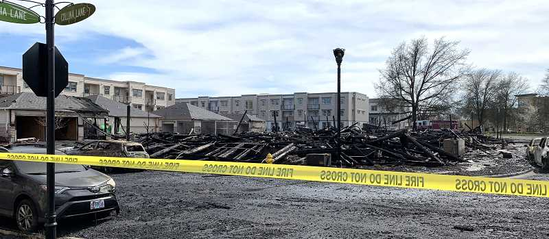 COURTESY PHOTO - Villebois' devastating fire in March had a tremendous impact on residents' sense of safety and community.
