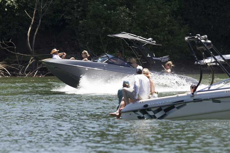 PMG FILE PHOTO - Discussions about how and whether to regulate water towing sports on the Willamette occupied  the riverfront communities in 2019.