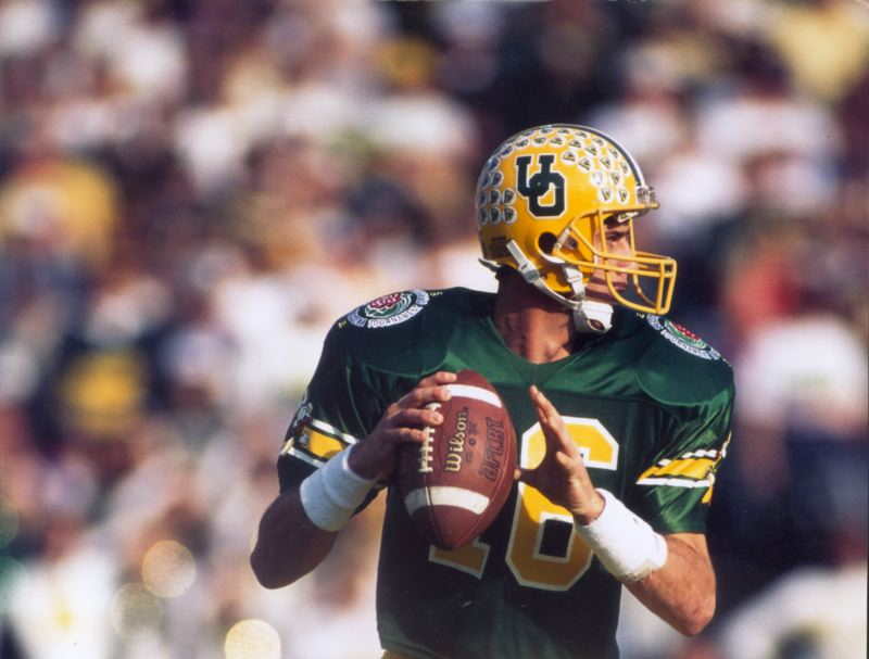 COURTESY PHOTO: UNIVERSITY OF OREGON ATHLETICS - Danny O'Neil's 465 passing yards were a Rose Bowl record in Oregon's loss to Penn State on Jan. 2, 1995