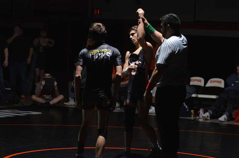 FILE PHOTO - Scappoose star wrestler Colton Frates and the Indians will be big contenders in the Northwest Oregon Conference.