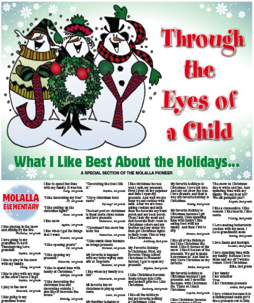 (Image is Clickable Link) Through the Eyes of a Child - Molalla Pioneer