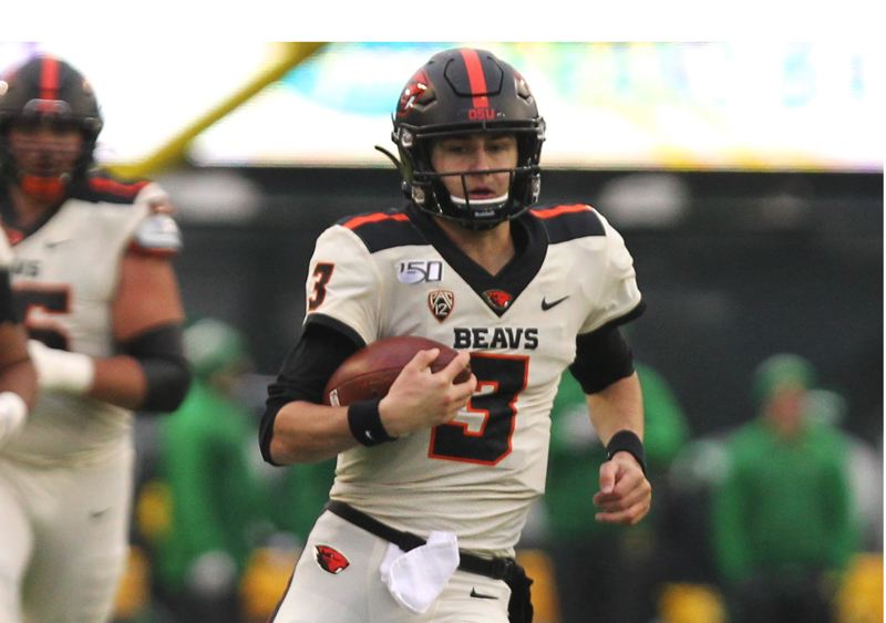 PMG PHOTO: JAIME VALDEZ - Tristan Gebbia is expected to compete with incoming JC transfer Chance Nolan to be the Beavers QB in 2020.