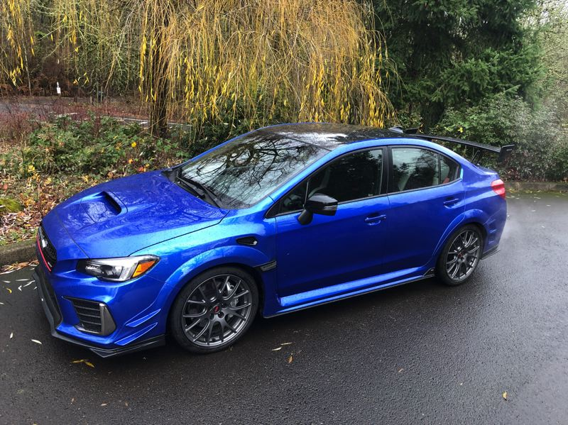 PMG PHOTO: JEFF ZURSCHMEIDE - The 2019 Subaru STI S209 is so-called because only 209 examples of this track-ready sports car were made.