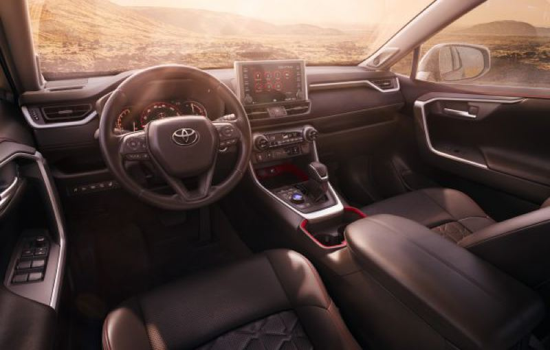 TPYOTA MOTOR COMPANY - The interior of the Toyota RAV4 now rivals those found in the Lexis luxury brnd of the company.
