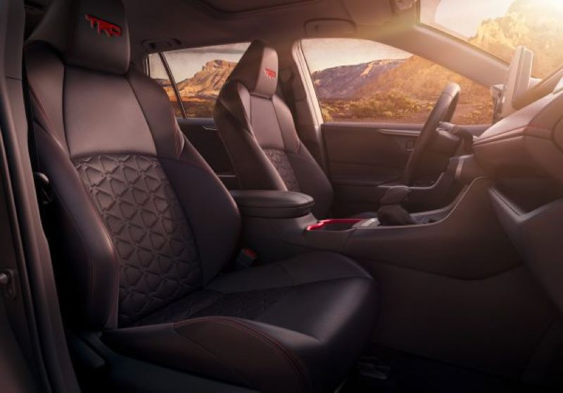 TOYOTA MOOR COMPANY - The front buck seats in the Toyota RAV4 are supportive and comfortable enough for long trips (TRD model shown).