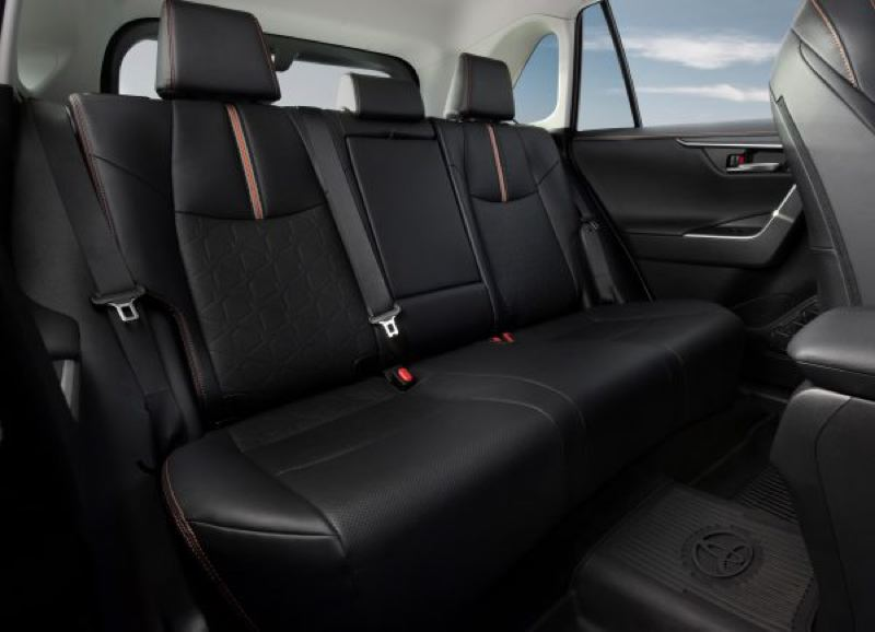 TOYOTA MOTOR COMPANY - The rear seats in the Toyota RAV4 are roomy enough for three adults.