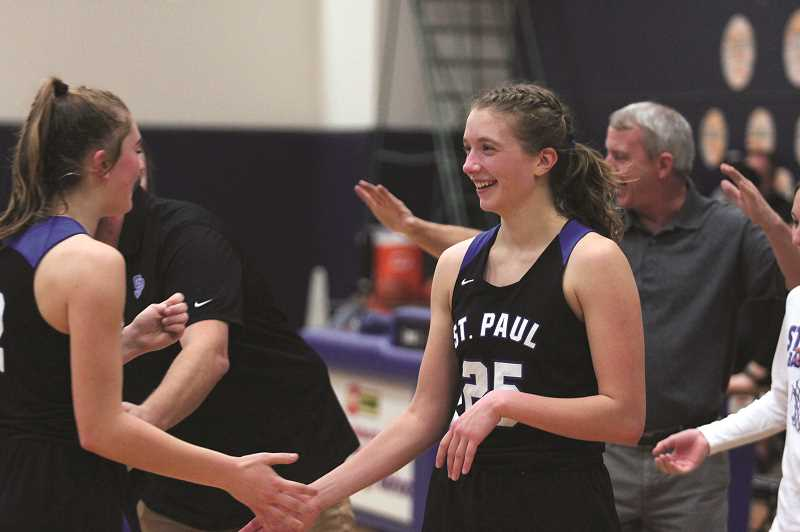 PMG PHOTO: PHIL HAWKINS - St. Paul senior Erin Counts and the Buckaroos girls basketball team have extended their current win streak to 38 games, dating back to the final game of the 2017-18 season.