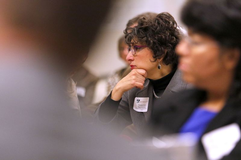 PMG FILE PHOTO - Yvonne Curtis, pictured in 2015 as superintendent of the Forest Grove School District, resigned in December 2017 after a series of clashes with the school board.