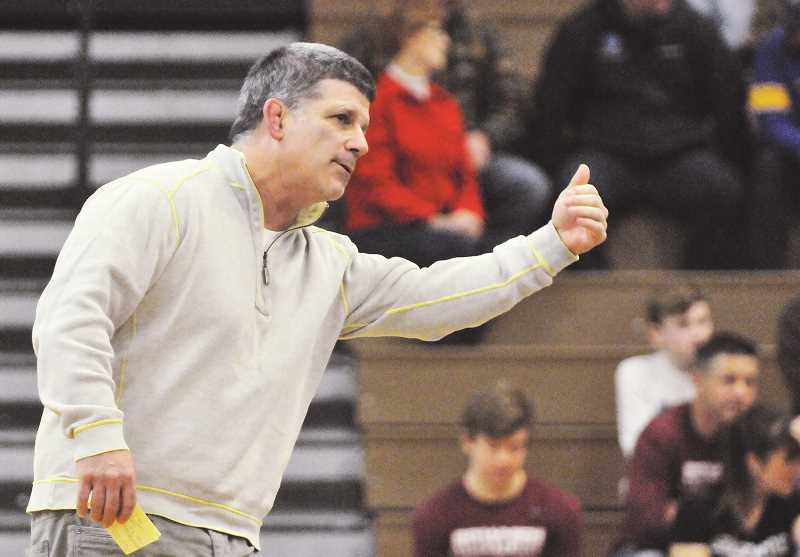GRAPHIC PHOTO: GARY ALLEN - NHS wrestling coach Neil Russo expects his team to be right in the mix with other state title contenders this season.
