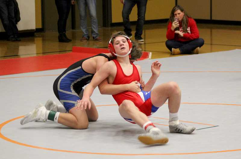 STEELE HAUGEN - Freshman Cael White places sixth at the Adrian Irwin tournament at Mountain View Dec. 22.