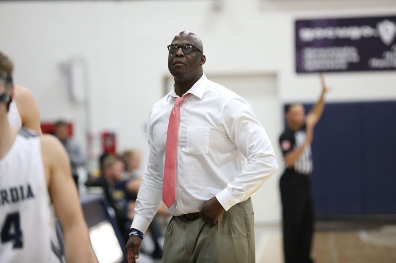COURTESY: CONCORDIA UNIVERSITY - New coach Rodrick Rhodes, a former NBA player, has been trying to instill a culture of 'love' in the Concordia men's basketball program, after a successful though controversial stint at a small high school in Kentucky.