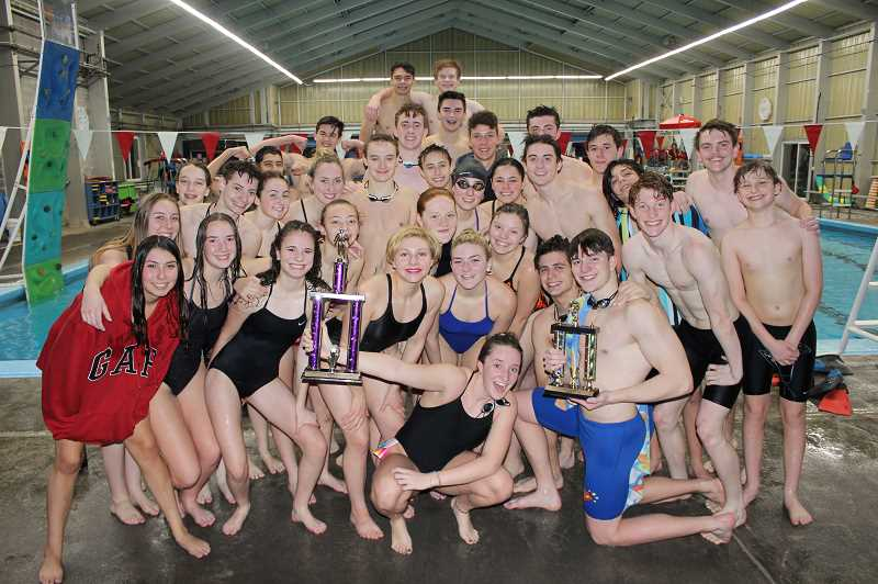 COURTESY PHOTO: DAVE RICHMOND - The Scappoose swimming teams have started the season strong with great showings at select invitationals.