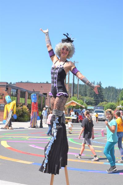 PMG FILE PHOTO - Many Estacada residents are looking forward to this year's Summer Celebration, where performers often walk on stilts.