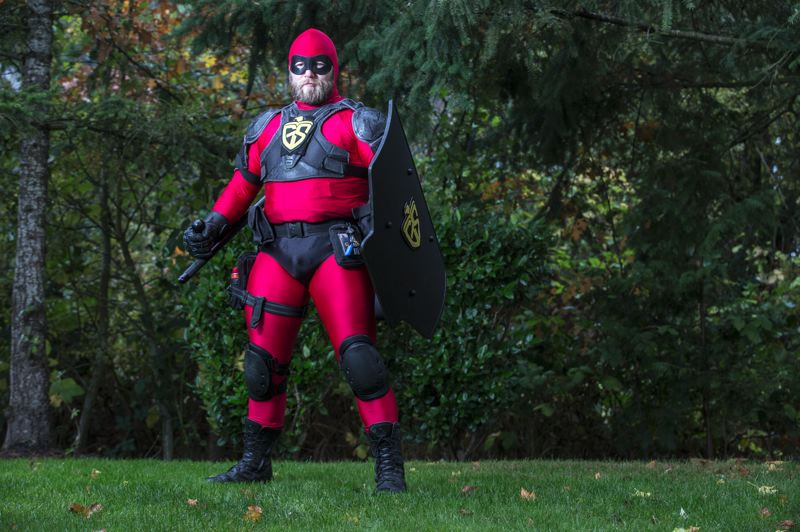 PMG FILE PHOTO - A U.S. Army veteran known to the public only as Guardian Shield became Beaverton and Aloha's masked protector for several months in 2015.