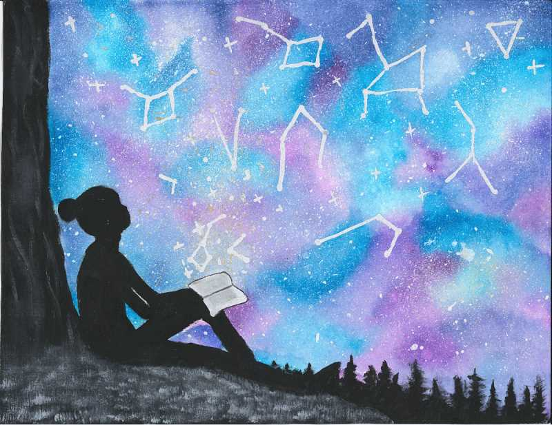 COURTESY PHOTO - Leala Tran, 12, of Happy Valley won last year's county library art contest, themed 'Universe of Stories.'
