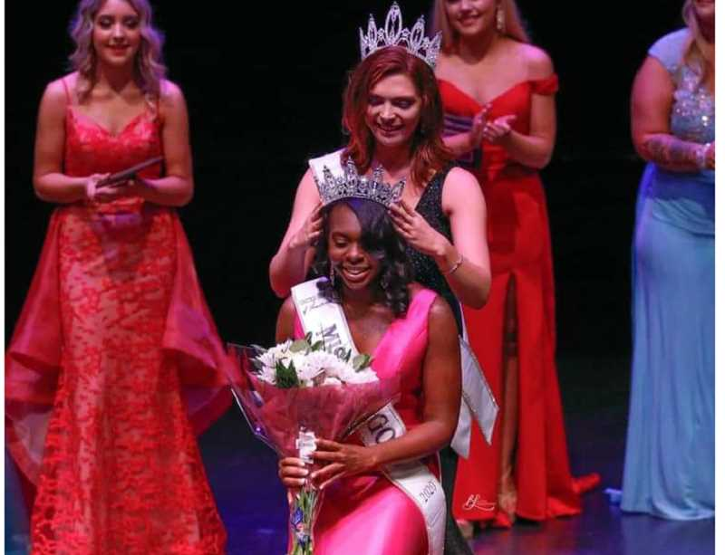 COURTESY PHOTO - Kervencia Limage, who represented Clackamas County in the state pageant, was crowned United States of America's Miss Oregon; it was the first time she had ever entered a pageant.