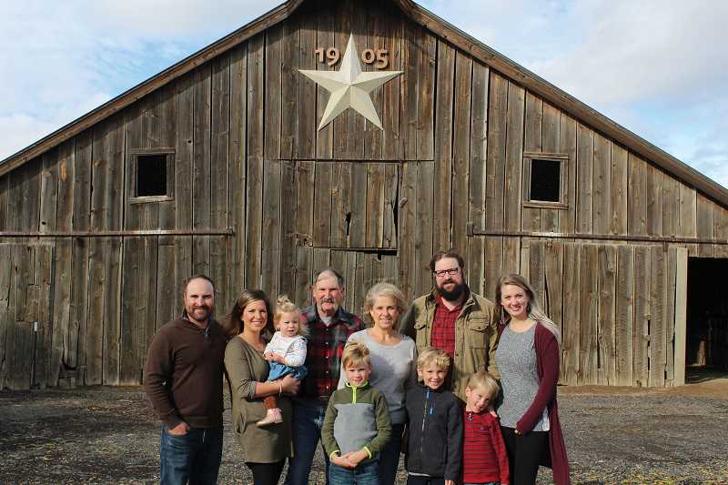 JANE AHERN/FOR THE PIONEER - The Klann family have an irrigated farm on the flat land of Agency Plains, where they grow mostly grass seed, wheat and barley., Madras Pioneer - News