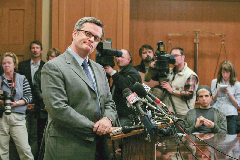 PMG FILE PHOTO - Portland Mayor Sam Adams listens to a question during a press conference Tuesday addressing his sexual relationship with an 18-year-old.