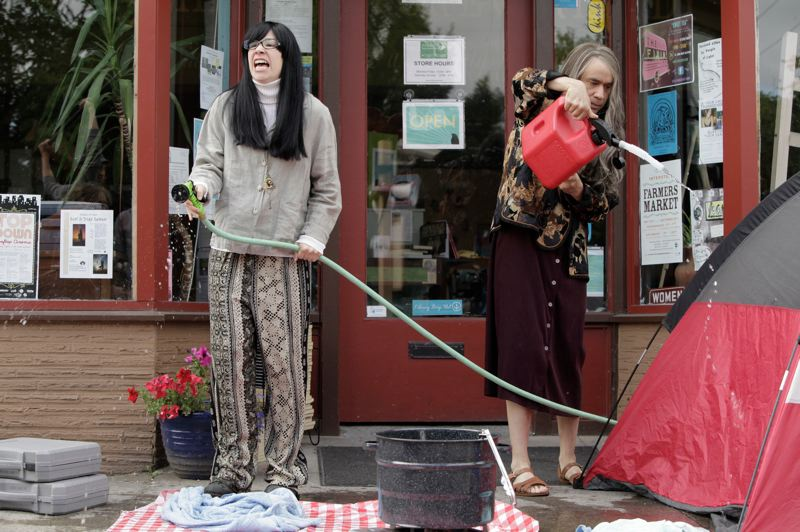 COURTESY PHOTO - Carrie Brownstein (left) and Fred Armisen either parodied or documented the Rose City in 'Portlandia,' depending on who you talk to.