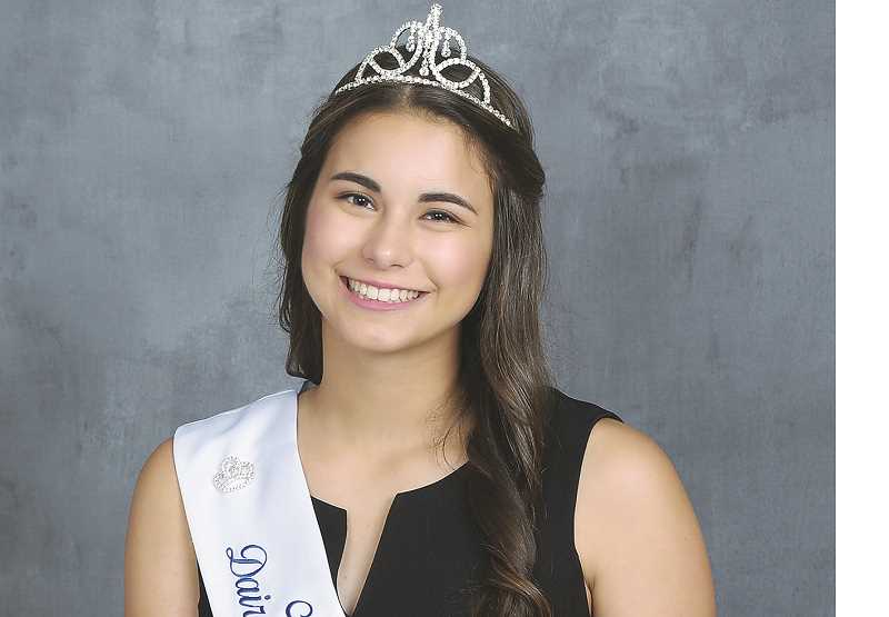 SUBMITTED PHOTO - SPHS grad Taysha Veeman, the reigning Marion County Dairy Princess, will vie for the state title as well.