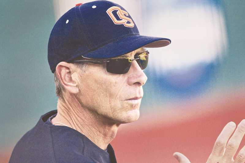 PMG FILE PHOTO - Former Oregon State baseball coach Pat Casey spent seven seasons at the helm of George Fox's baseball program. Casey retired from coaching in 2018 following an illustrious tenure in Corvallis that featured three titles.