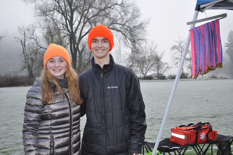 Pictured are cousins Ellie Dodson and Aidan Strealy, race directors for the Micro Marathon.