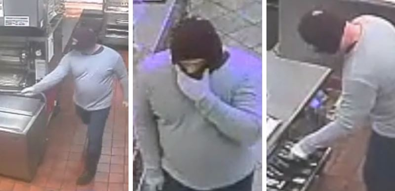 VIA CCSO - A man dubbed the Opening Bell bandit robbed a Carl's Jr. fast-food joint in Happy Valley, police say. He is linked to robberies this month in Gladstone and West Linn as well.