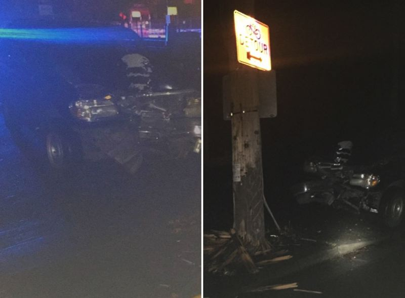 VIA PPB - Photos of the crash scene released by Portland Police Bureau.