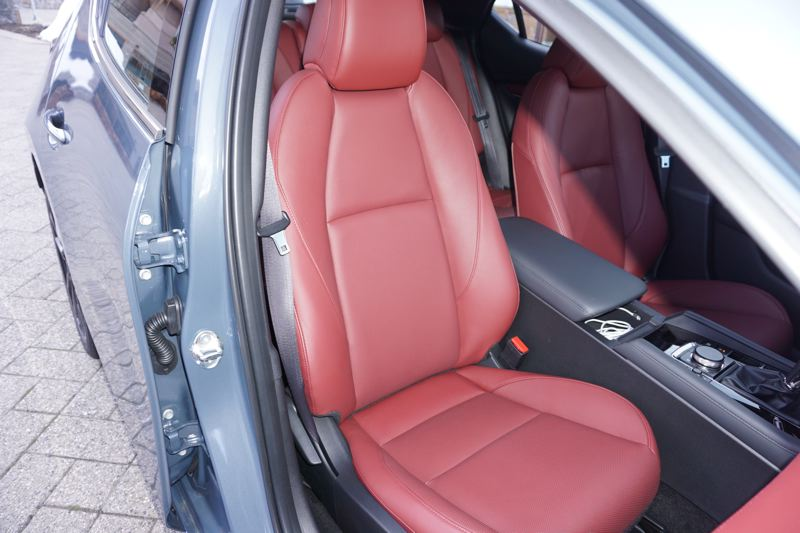 PMG PHOTO: JEFF ZURSCHMEIDE - The front bucket seats in the Mazda3 are comfortable and supportive.