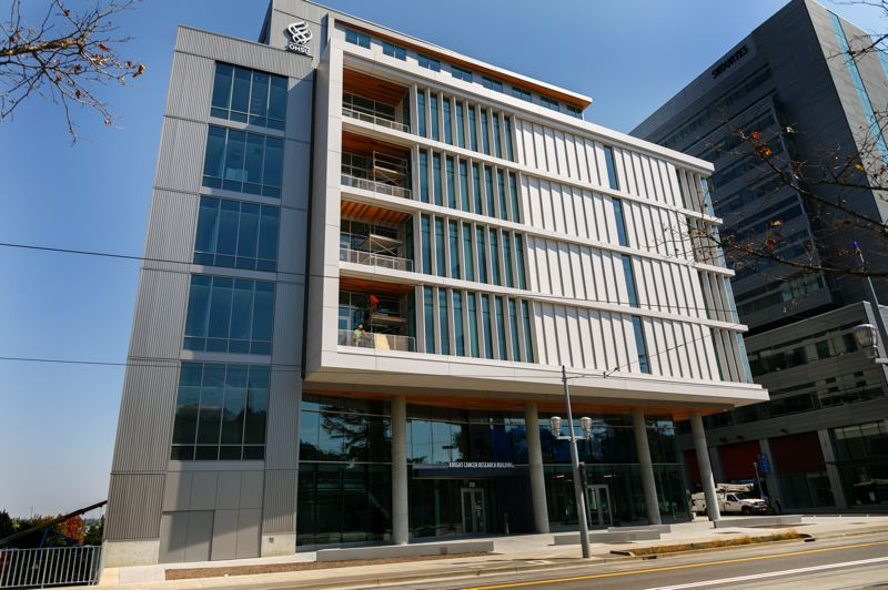 TRIBUNE FILE PHOTO - The Knight Cancer Research Building at OHSU, financed by both the tax payer and donations.