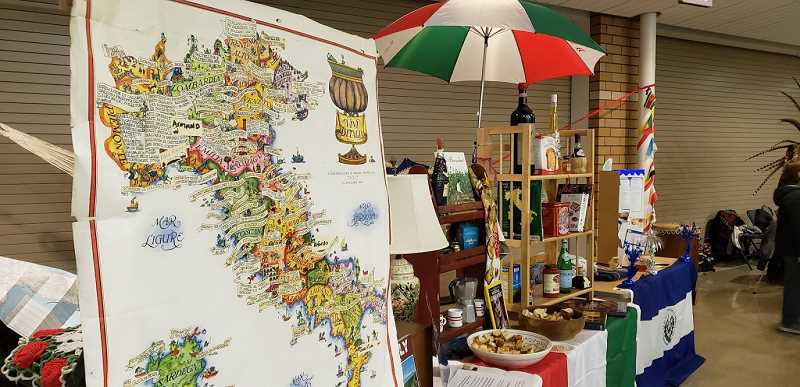 COURTESY PHOTO: DOLORES FOGLIO - One of the many booths set up at last year's Culture Night.
