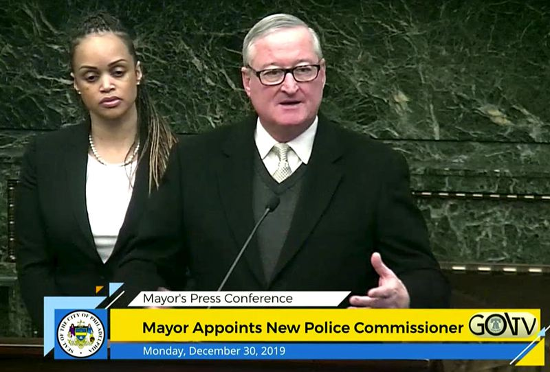COURTESY PHOTO: CITY OF PHILADELPHIA - Philadelphia Mayor Jim Kenney introduced Portland Police Chief Danielle Outlaw Monday, Dec. 30, as the new police commissioner during a televised press conference. Kenney said Outlaw was the right person for the job.