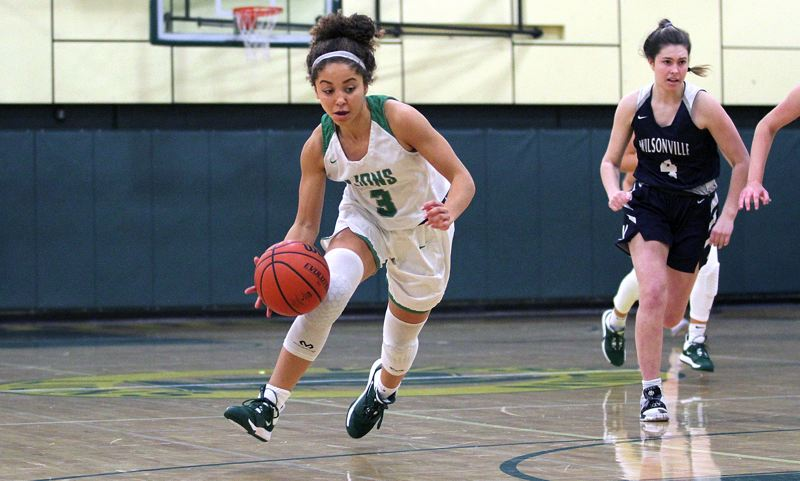 PMG PHOTO: MILES VANCE - West Linn guard Alana Molden (shown here against Wilsonville) and the Lions dropped a 55-39 decision to South Medford in the Portland Holiday Classic on Saturday, Dec. 28.