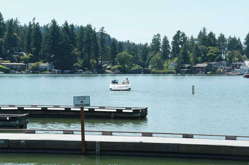 PMG FILE PHOTO  - The fight over whether Oswego Lake should be private or public went all the way to the Oregon Supreme Court.