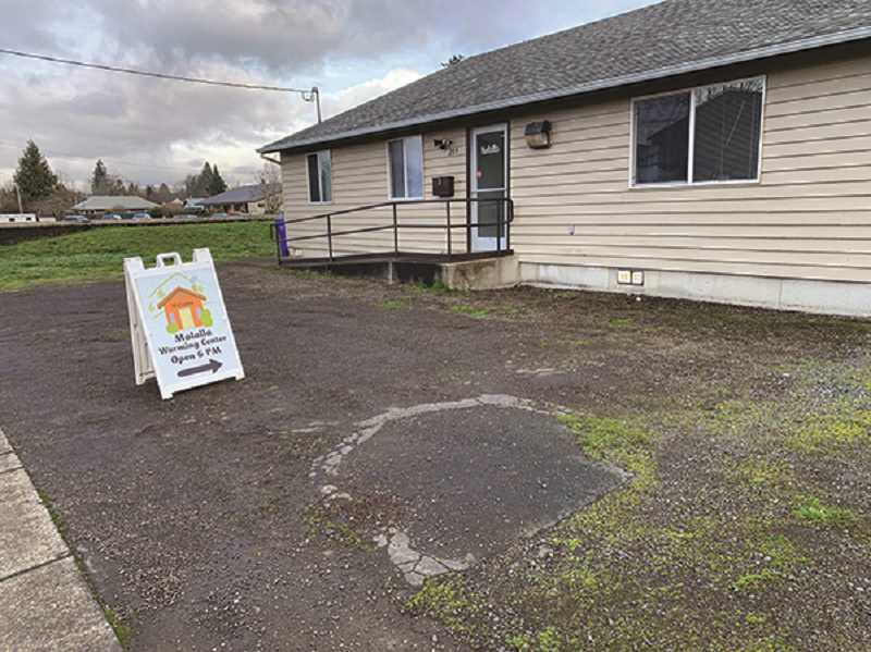 PMG PHOTO: CAROL ROSEN - The Molalla Warming Center is located at 209 Kennel Ave. and has provided for an average of 11 people staying overnight each night. They also serve a hot meal in the evening and a drink and snack when people leave the next morning.