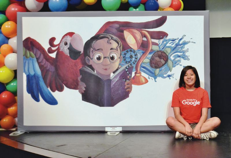 PMG FILE PHOTO: BRITTANY ALLEN - Sandy High School freshman Cinthya Bautista won the state-level contest to design a Google Doodle this year.
