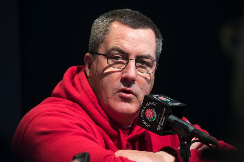 PMG PHOTO: JAIME VALDEZ - Wisconsin coach Paul Chryst has a superstar running back, but he knows offensive balance and converting third downs will be important against Oregon in the Rose Bowl.