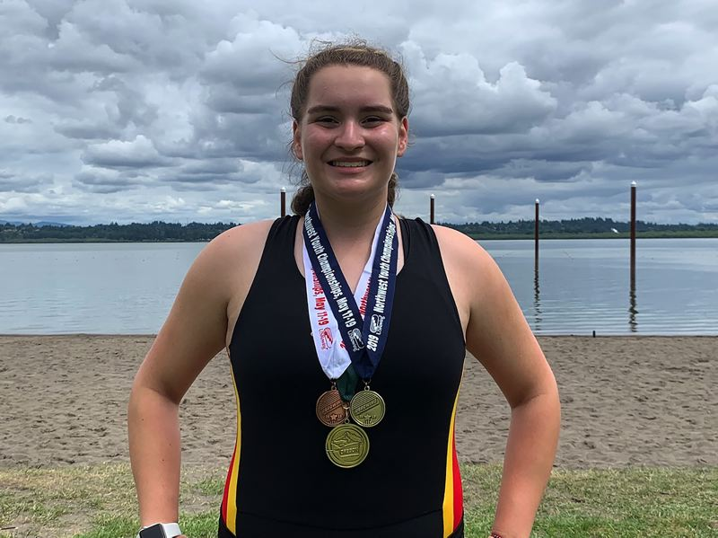 COURTESY PHOTO - Canby's Bella Short won multiple medals at the Northwest Regionals last May.