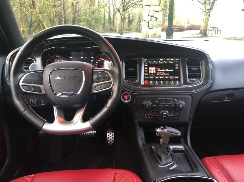 PMG PHOTO: JEFF ZURSCHMEIDE - Dodge has put its latest dashboard technology into the Charger, including an all-digital display for the driver.