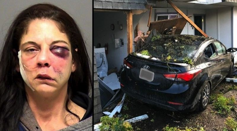 COURTESY PHOTO: CLACKAMAS COUNTY SHERIFF'S OFFICE - Chelsea Ryann Amos, 44, of Sandy was booked into Clackmas County Jail on New Year's Day after allegedly crashing her car into a Southeast Portland apartment building.