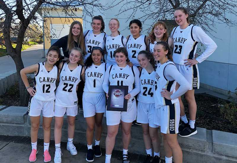 COURTESY PHOTO - Canby's girls basketball team went 2-1 at the West Coast Jamboree on Dec. 27-30 in Brentwood, Calif.