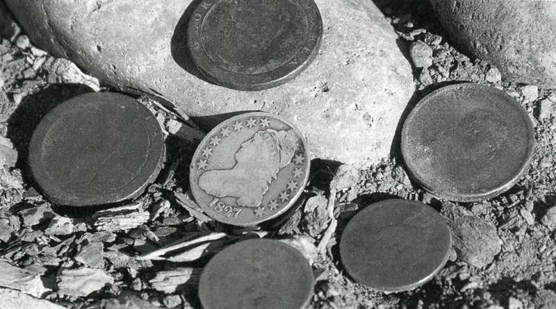 PHOTO COURTESY OF BOWMAN MUSEUM  - A photo shown of some coins that were found on the winter rim were believed to be Fremont coins.
