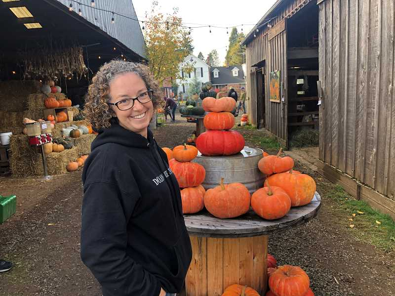 Renae Bedolla of Lake Oswego grew up on Dolan Creek Farm in Boring and is helping her parents grow a pumpkin patch. She planted 30 different pumpkins.
