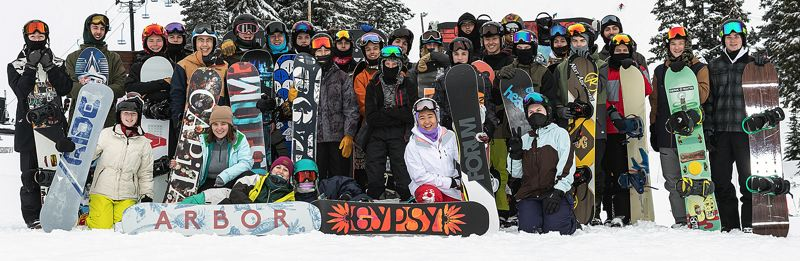 COURTESY ERIK GRAHAM PHOTOGRAPHY - The West Linn snowboard teams were pacesetters a year ago and believe they have the talent and depth to challenge the state's best again in 2020.