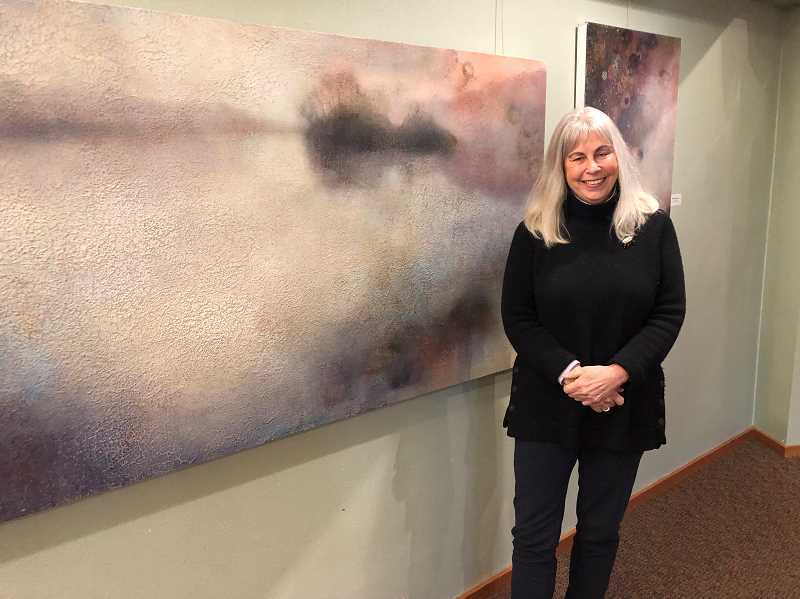 PMG PHOTOS: BARB RANDALL  - Marlana Stoddard Hayes is exhibiting her art at the Creative Spirit Gallery at West Linn Lutheran Church through January. All are invited to attend an artists reception and presentation from 9 a.m.-noon Jan. 5.
