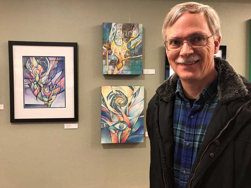 Larry Gross is sharing the Creative Spirit Gallery space with Stoddard Hayes, showing his exhibition titled Earth Crammed With Heaven.