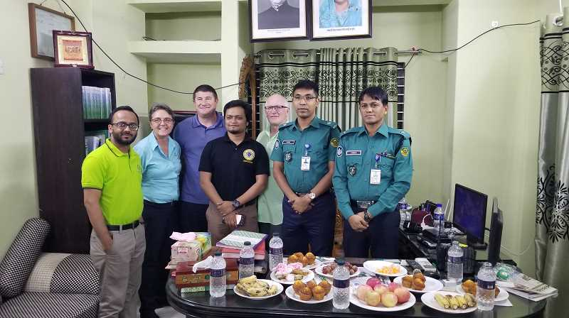 COURTESY OF WOODBURN POLICE - Sharing of food and culture was part of the experience as Woodburn Police Det. Linda Hedricks participated in the International Criminal Investigative Training Assistance Program.