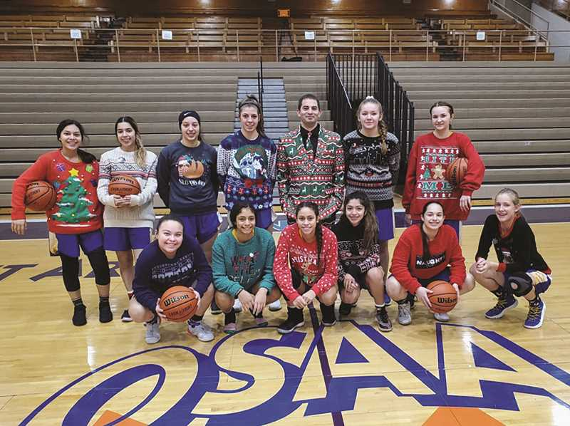 COURTESY PHOTO: KYLE BUSE - The Gervais girls basketball team remained unbeaten on the season, beating the defending state champion Heppner Mustangs 61-18 to up their record to 8-0 heading into 2020.