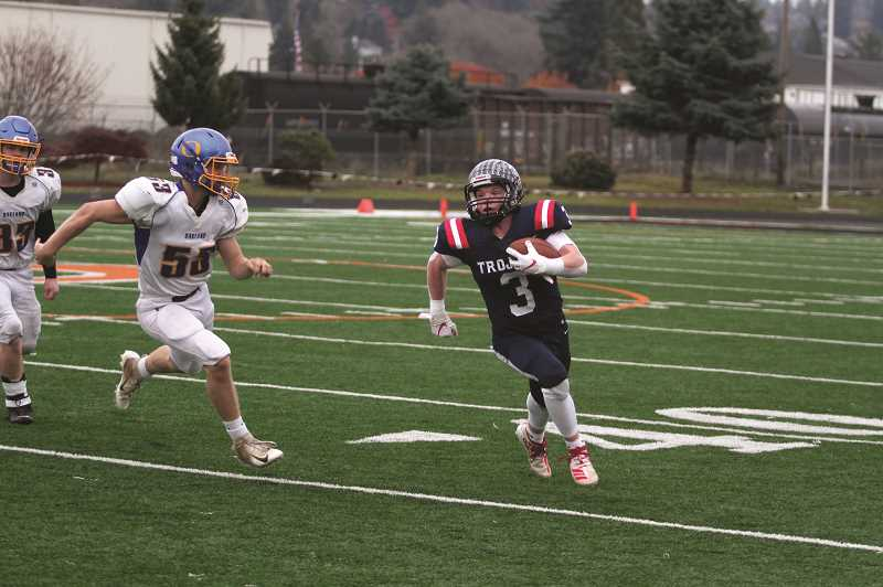 PMG FILE PHOTO - Kennedy senior Bruce Beyer was one of several Trojan football players to be selected to the 2019 2A All-State football team on both sides of the ball.