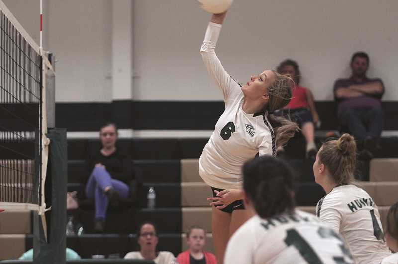 PMG FILE PHOTO - Senior Katie Ensign gave the North Marion Huskies a representative on the 2019 All-State Volleyball Team, earning Honorable Mention honors.